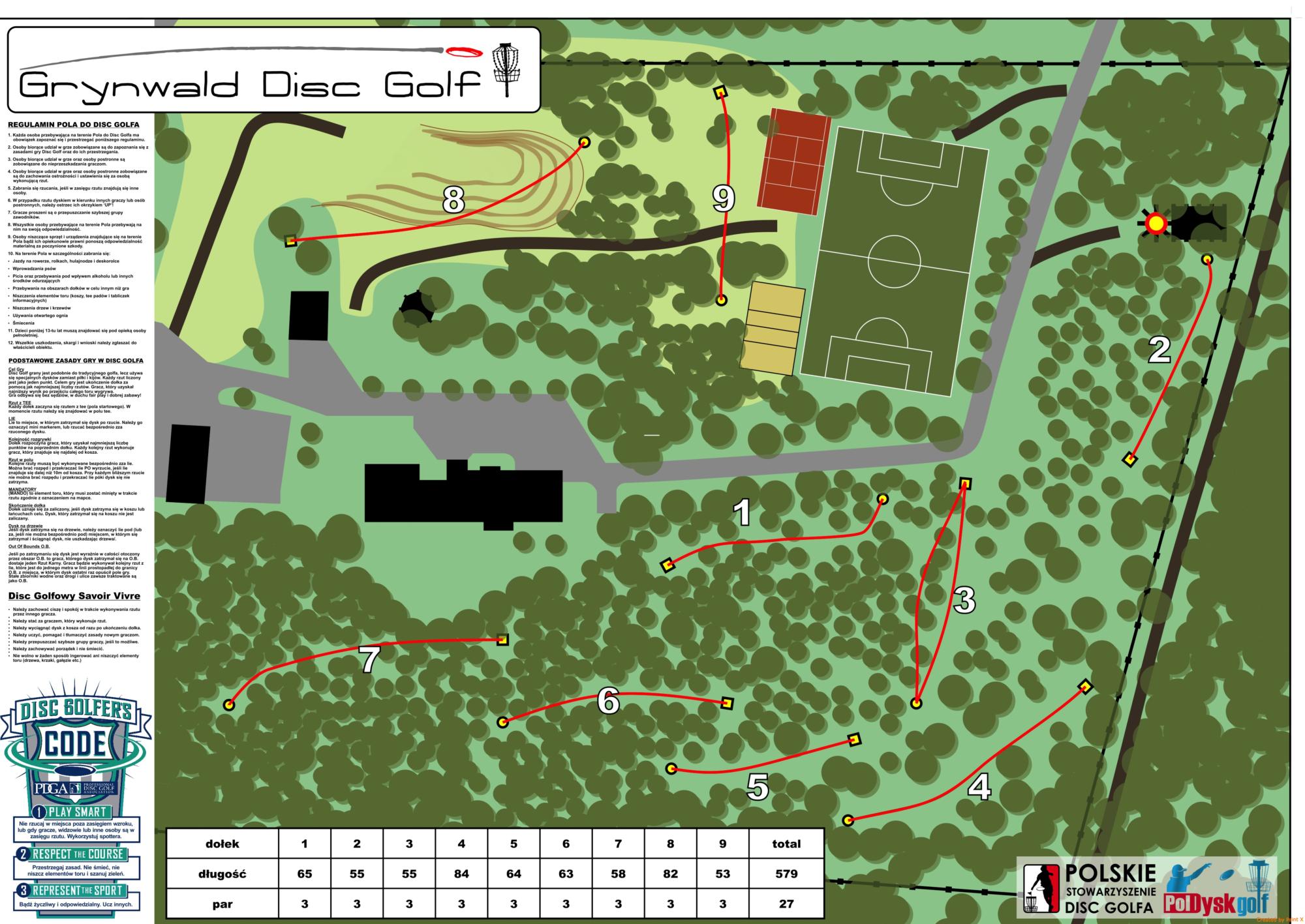 Pole do Disc Golfa w Agroturystyce Grynwald woj. Świętokrzyskie